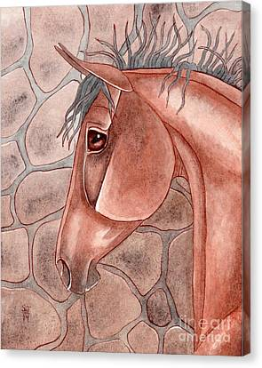 Bay Horse Canvas Print - Bay Over Stone by Suzanne Joyner