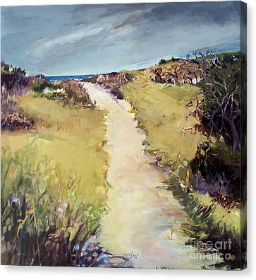Bay Path Canvas Print by Diane Ursin