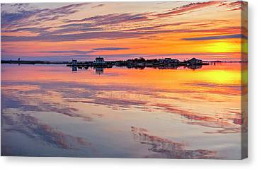 Canvas Print featuring the photograph Bay Sunrise by Mike Lang