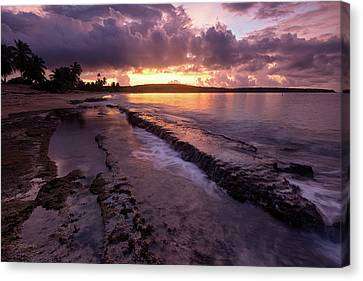 Canvas Print featuring the photograph Bay Sunrise by Patrick Downey