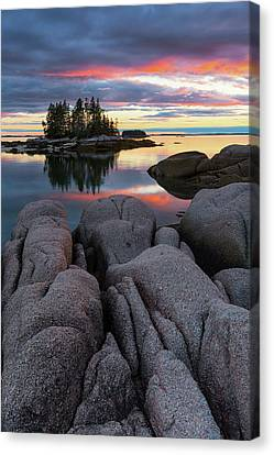 Canvas Print featuring the photograph Bay View by Patrick Downey