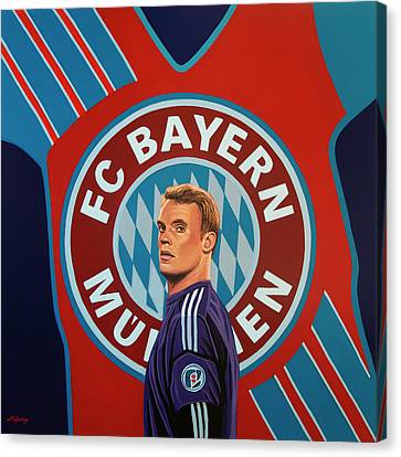 Keeper Canvas Print - Bayern Munchen Painting by Paul Meijering