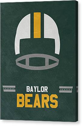 March Canvas Print - Baylor Bears Vintage Football Art by Joe Hamilton