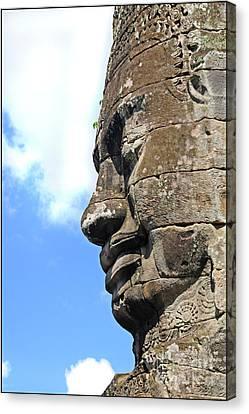 Angkor Thom Canvas Print - Bayon Face by Marion Galt