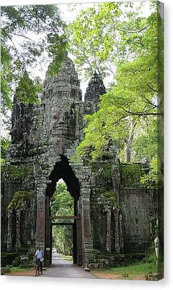 Bayon Gate Canvas Print by Marion Galt