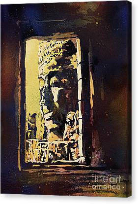 Canvas Print featuring the painting Bayon IIi- Cambodian Ruins, Angkor Wat by Ryan Fox