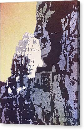 Canvas Print featuring the painting Bayon Temple- Angkor Wat, Cambodia by Ryan Fox