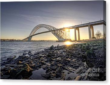 Bayonne Bridge Sunset Canvas Print