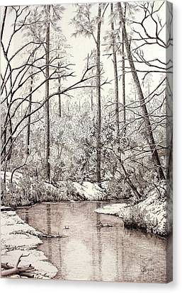 Bayou Lacombe At Peace Grove Ll Canvas Print by Colleen Marquis