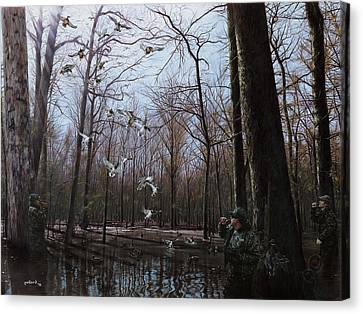 Bayou Meto Morning Canvas Print