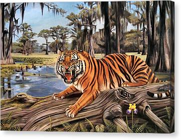 Bayou Mike Of Louisiana Canvas Print by Mike Roberts