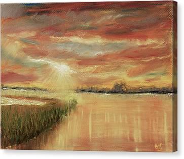 Bayou Sunrise Canvas Print by Barry Jones