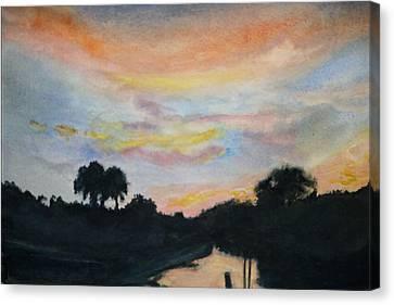 Bayou Sunset Canvas Print