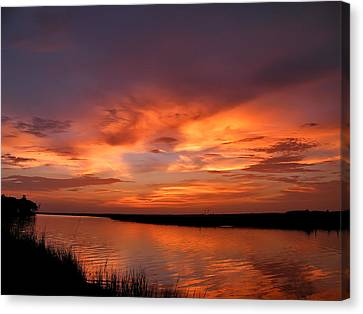 Bayou Sunset Canvas Print by Brian Wright