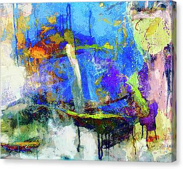 Canvas Print featuring the painting Bayou Teche by Dominic Piperata