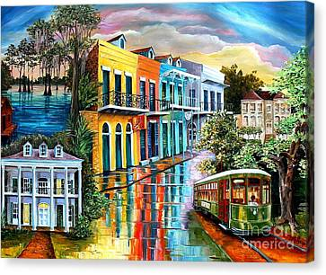 Bayou To The Big Easy Canvas Print by Diane Millsap