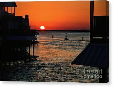 Bayou Vista Sunset Canvas Print