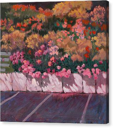 Bayside Flowers Canvas Print by Robert Bissett