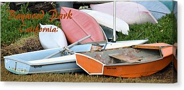 Baywood Park Boats And More Boats Canvas Print by Barbara Snyder