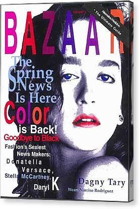 Bazaar Magazine Cover Canvas Print