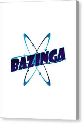 Apparel Canvas Print - Bazinga - Big Bang Theory by Bleed Art