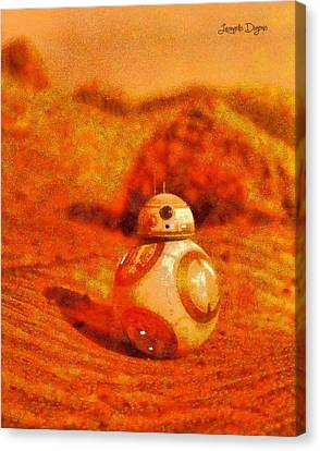 Bb-8 In The Desert - Da Canvas Print