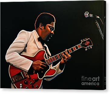 Eric Clapton Canvas Print - B. B. King by Paul Meijering