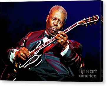 Entertainer Canvas Print - Bb King by Paul Tagliamonte