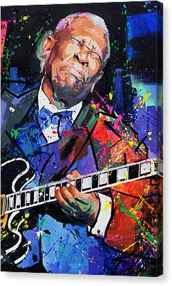 Bb King Portrait Canvas Print by Richard Day