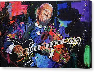 Size Canvas Print - Bb King by Richard Day