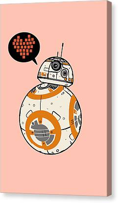 Bb8 Love Pink Canvas Print by Nicole Wilson