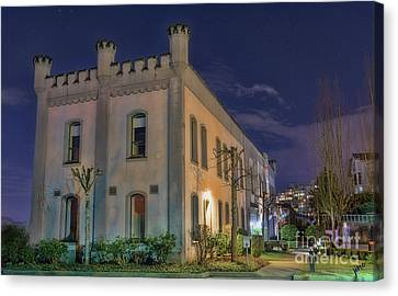 Canvas Print featuring the mixed media B.c.penitentiary by Jim  Hatch