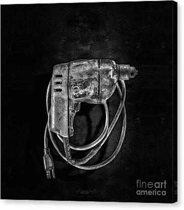 Bd Drill Motor Bw Canvas Print by YoPedro