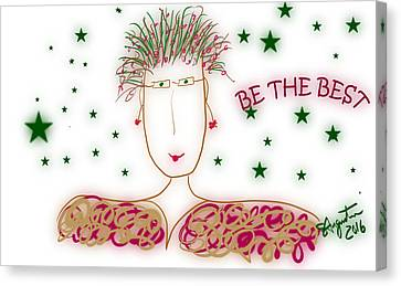 Lead The Life Canvas Print - Be Attitudes -be The Best by Sharon Augustin
