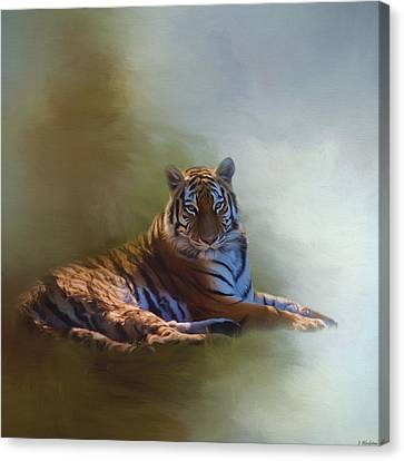 Be Calm In Your Heart - Tiger Art Canvas Print by Jordan Blackstone