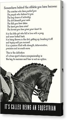 Be Equestrian Quote Canvas Print