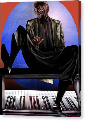 Be Good To Ya - Ray Charles Canvas Print by Reggie Duffie