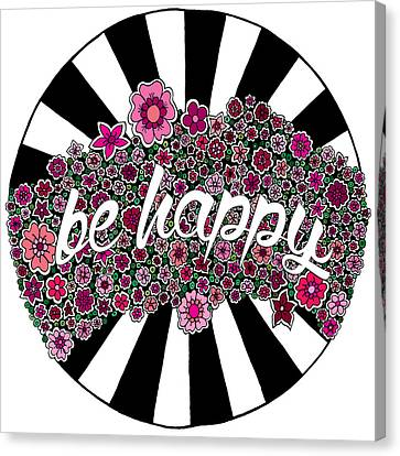 Be Happy Canvas Print by Elizabeth Davis
