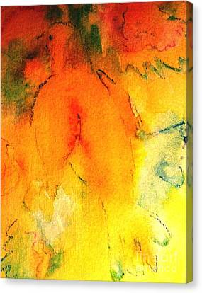 Canvas Print featuring the painting Be Harmless As Doves by Hazel Holland