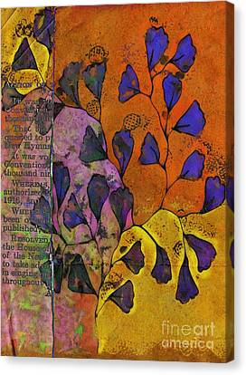 Textured Florals Canvas Print - Be Leaf - 2220a by Variance Collections