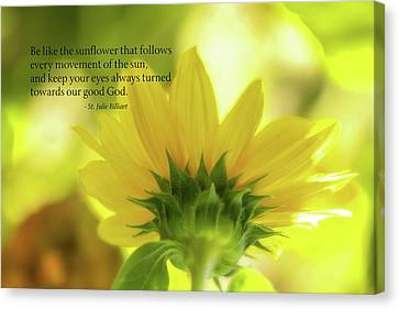 Macros Canvas Print - Be Like The Sunflower by Terry Davis