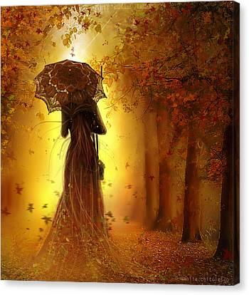Be My Autumn Canvas Print by Amalia Iuliana Chitulescu