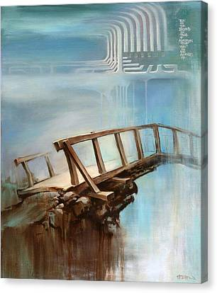 Canvas Print featuring the painting Be On The Beyond by Dave Platford