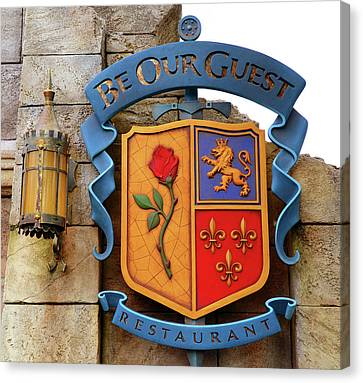 Family Crest Canvas Print - Be Our Guest Sign 2014 by David Lee Thompson
