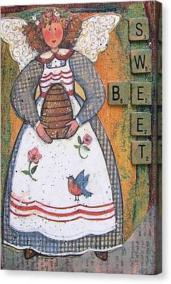Canvas Print featuring the painting Be Sweet Altered Art Mixed Media by Barbara Giordano