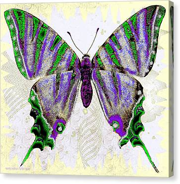 Be Who U R Butterfly Canvas Print