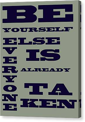 Be Yourself Canvas Print by Georgia Fowler