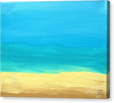 Beach Abstract Canvas Print by D Hackett