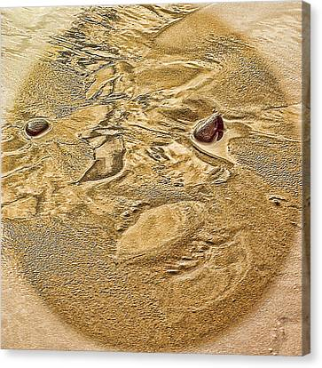 Canvas Print featuring the photograph Beach Abstract by Dale Stillman