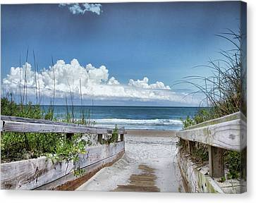 Beach Access Canvas Print by Phil Mancuso